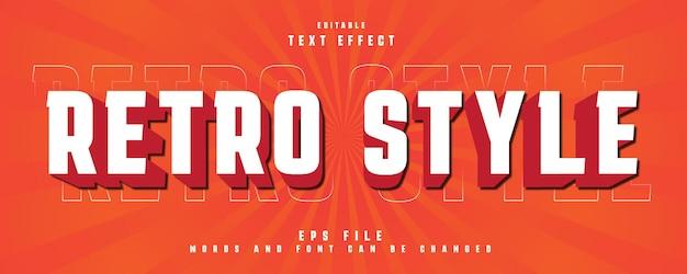Effet de texte de style rétro