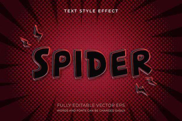 Effet de texte de style super-héros modifiable spidy