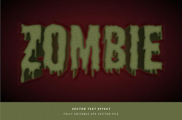 Effet de texte de style zombie