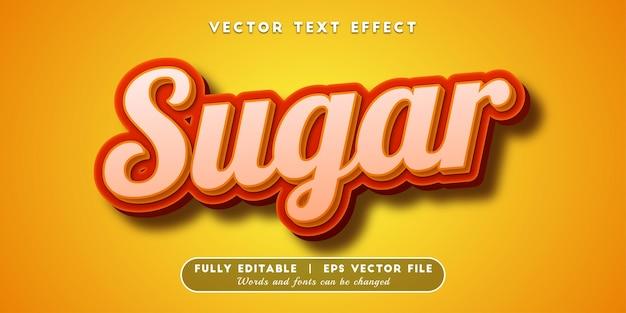 Effet de texte de sucre brun, style de texte modifiable