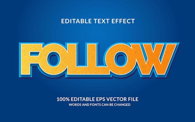 Effet de texte de suivi créatif
