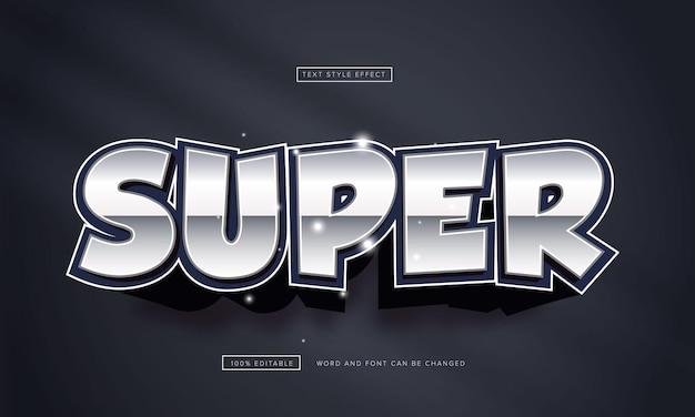 Effet de texte super chrome modifiable