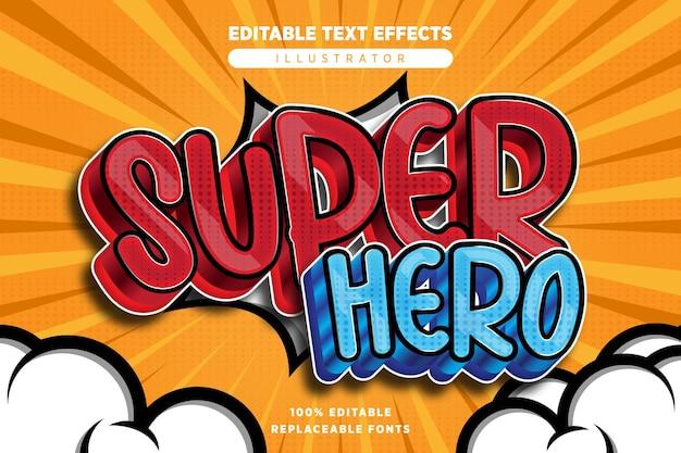 Effet de texte de super-héros modifiable en style bande dessinée