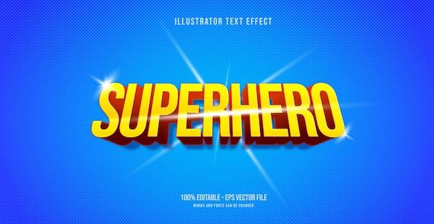 Effet de texte de super-héros, style de texte modifiable
