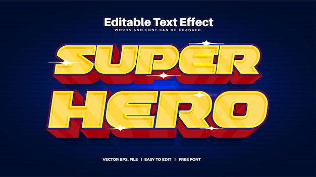 Effet de texte de super-héros