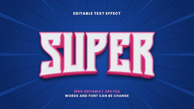 Effet de texte super modifiable dans un style 3d moderne