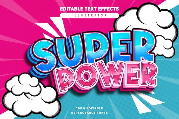 Effet de texte super puissant modifiable en style bande dessinée