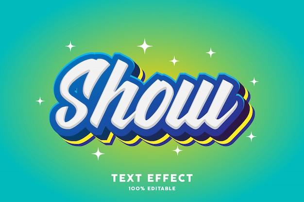 Effet de texte de superposition de trait bleu et jaune, texte modifiable