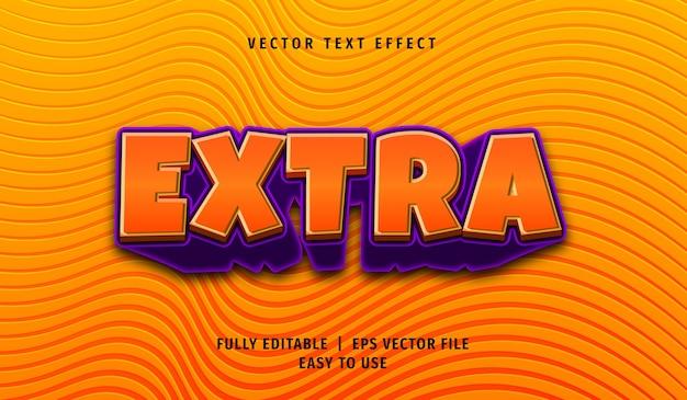Effet de texte supplémentaire 3d, style de texte modifiable