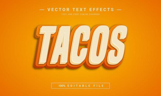 Effet de texte tacos