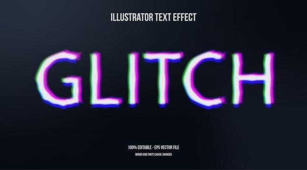 Effet de texte de la technologie glitch