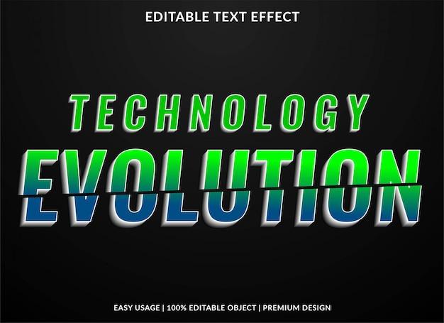 Effet de texte de technologie