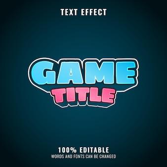 Effet de texte de titre de jeu coloré amusant parfait pour le logo et le titre de votre jeu
