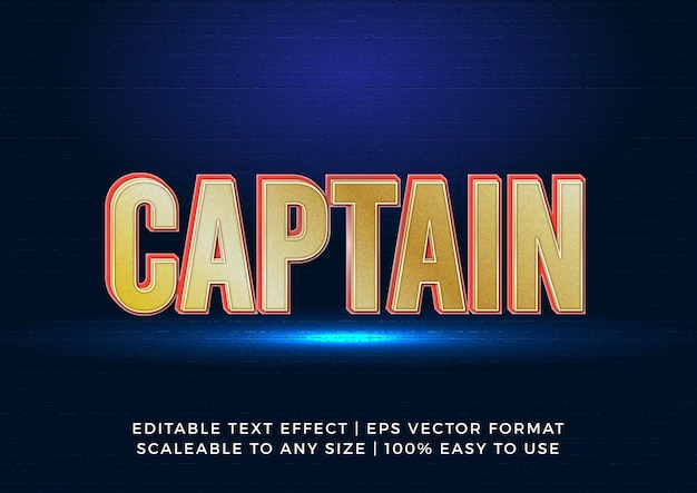 Effet de texte de titre de lumière 3d de super-héros