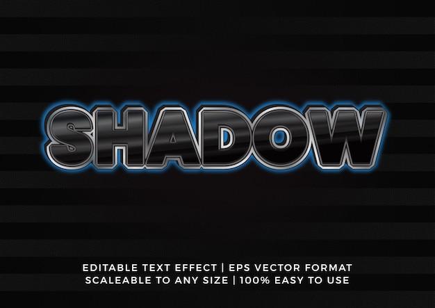 Effet de texte de titre de lumière d'ombre brillante