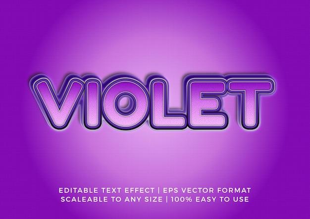 Effet de texte de titre texturé 3d violet art