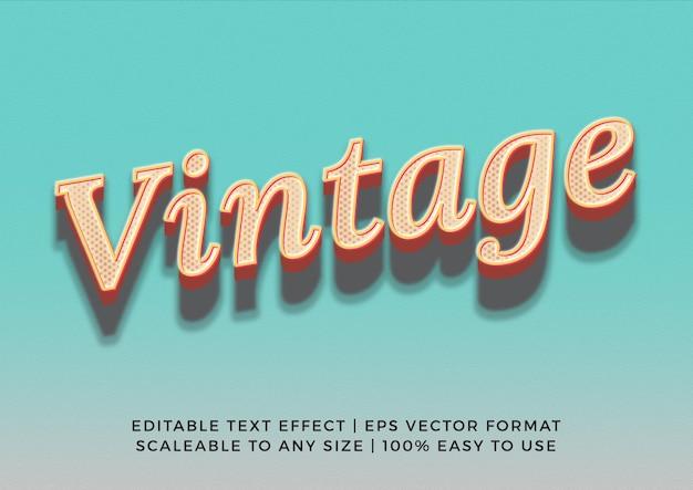 Effet de texte de titre vintage classique 3d cool