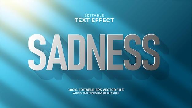 Effet de texte de tristesse