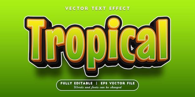 Effet de texte tropical avec style de texte modifiable
