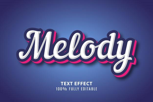 Effet de texte de typographie mélodie