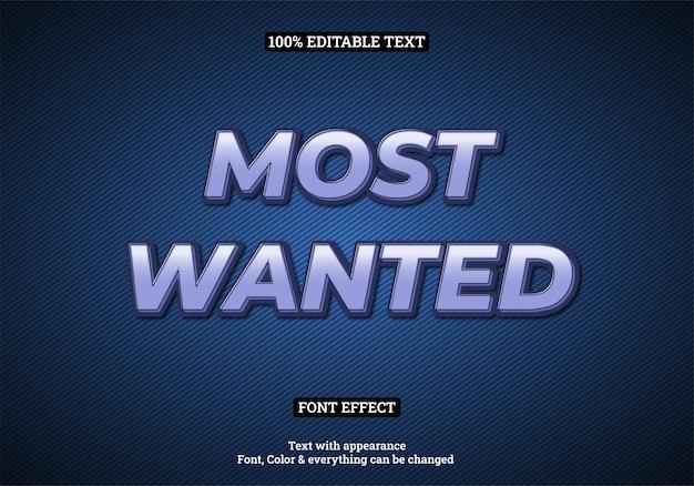 Effet de texte de typographie en surbrillance dégradé bleu avec fond sombre