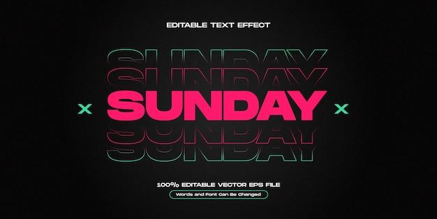 Effet de texte urbain dimanche de rue effet de texte urbain modifiable