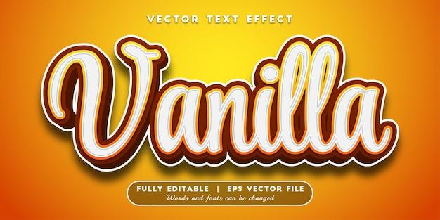 Effet de texte vanille avec style de texte modifiable