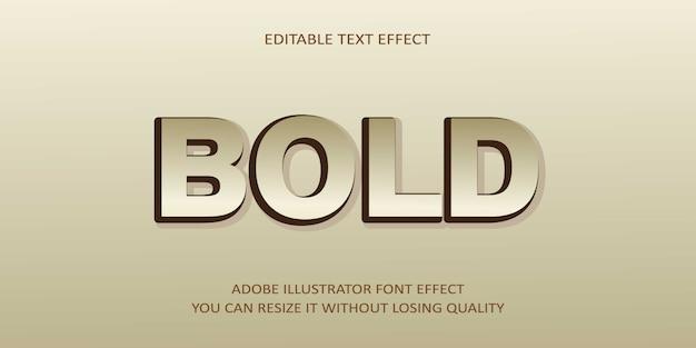 Effet de texte vectoriel en gras
