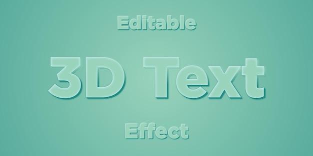 Effet de texte vectoriel modifiable 3dtext