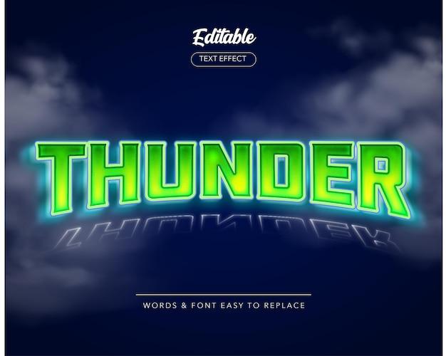 Effet de texte vectoriel thunder sky thème style