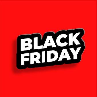 Effet de texte vendredi noir en arrière-plan de style 3d