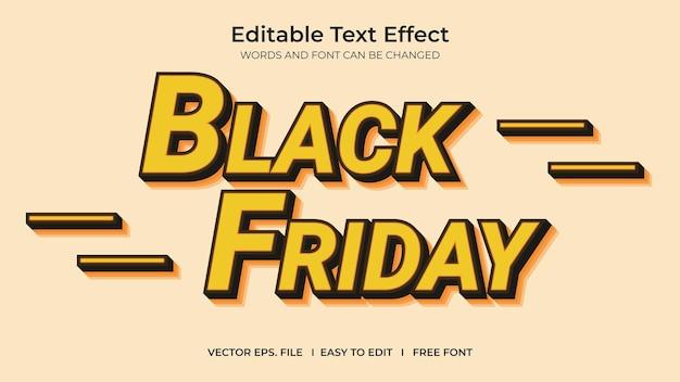 Effet de texte vendredi noir
