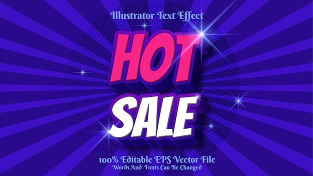 Effet de texte de vente chaude 3d premium