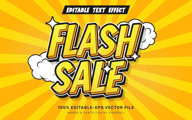 Effet de texte de vente flash comique
