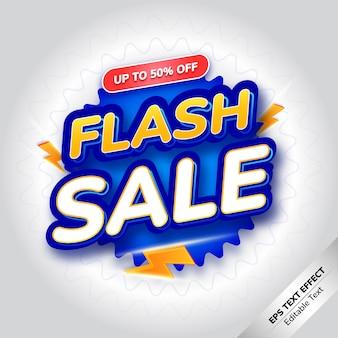 Effet de texte vente flash dégradé argent