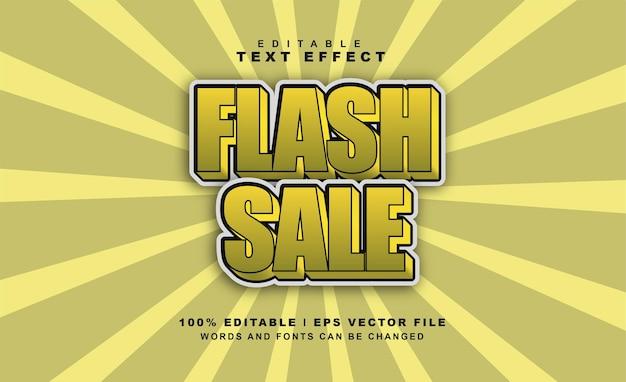 Effet de texte de vente flash vecteur eps gratuit