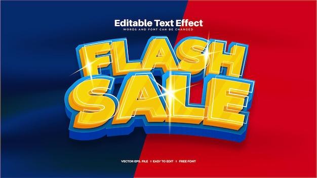 Effet de texte de vente flash