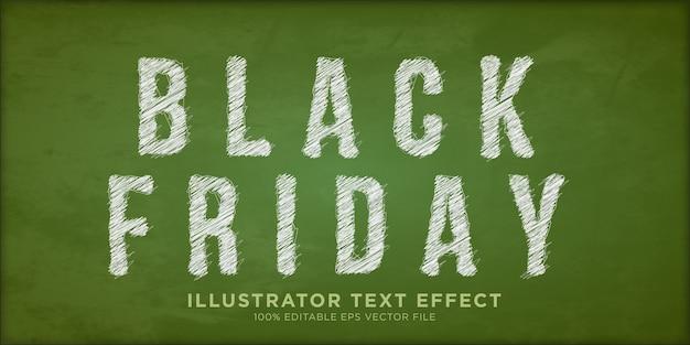 Effet de texte de vente vendredi noir