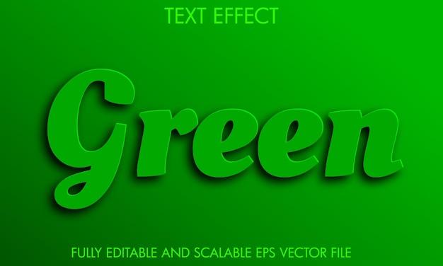 Effet de texte vert entièrement modifiable