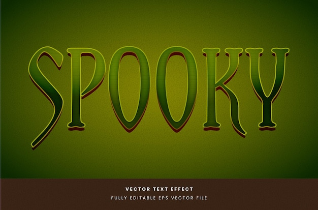 Effet de texte vert halloween