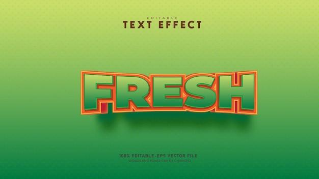 Effet de texte vert style de texte modifiable vecteur premium