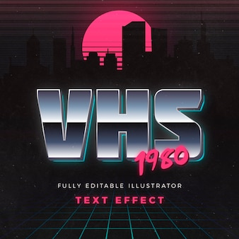 Effet de texte vhs 1980