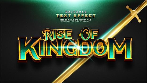 Effet de texte vintage gold rise of kingdom