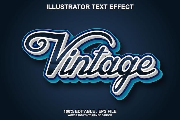 Effet de texte vintage modifiable