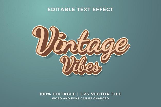 Effet de texte vintage vibes