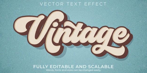 Effet de texte vintage