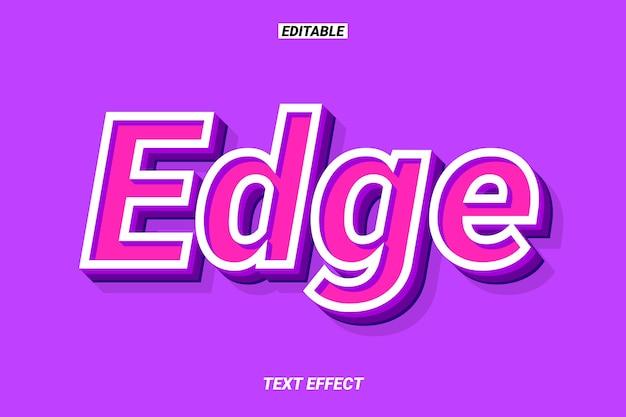 Effet de texte violet 3d