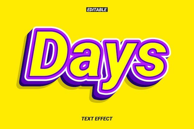 Effet de texte violet fort et contrasté