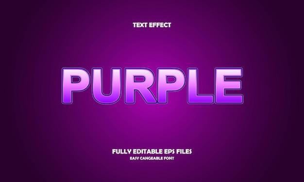 Effet de texte violet