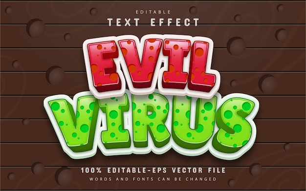 Effet de texte de virus maléfique modifiable